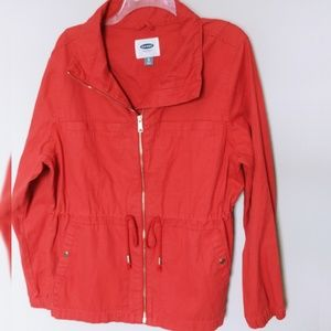 Old Navy coral military jacket XL